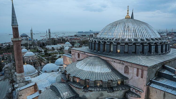Ayasofya Camii'nin minaresinden tarihi yarımada