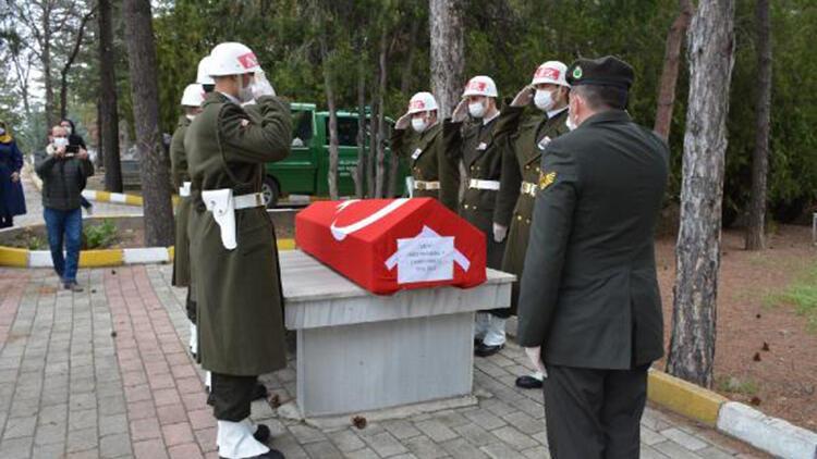 Kıbrıs gazisi, törenle son yolculuğuna uğurlandı