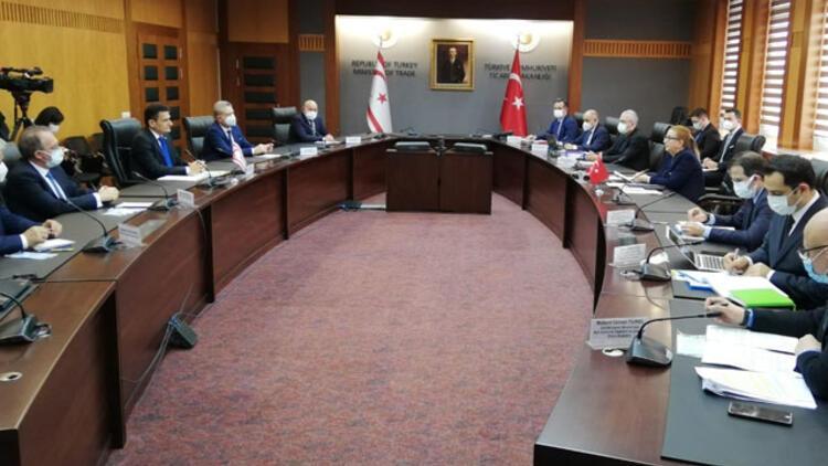 Bakan Pekcan, KKTC Maliye Bakanı ile görüştü