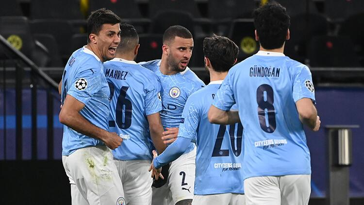 Manchester City, Şampiyonlar Ligi'nde yarı finalde! Dortmund geri dönemedi