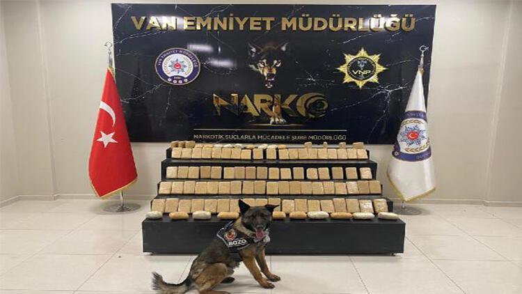 'Bozo' ile aramada 51 kilo 561 gram eroin ele geçirildi