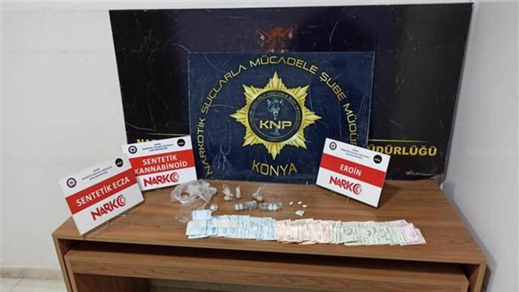 Konya'da uyuşturucu operasyonu: 36 gözaltı