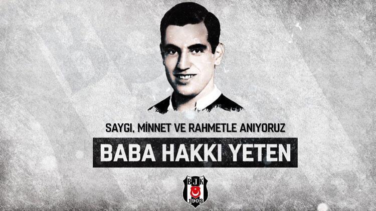 """Beşiktaş, vefatının 32. yıl dönümünde """"Baba Hakkı""""yı andı"""