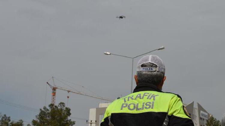 Adıyaman'da dronlu trafik denetimi