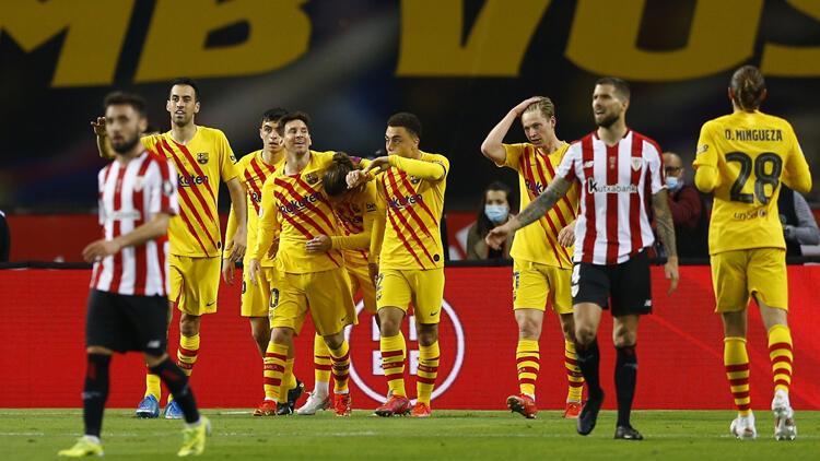 İspanya Kral Kupası'nda Athletic Bilbao'yu farklı yenen Barcelona 31. kez kupanın sahibi oldu