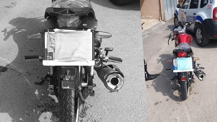 Plakasını maskeyle gizleyen sürücü kovalamacayla yakalandı, 7 bin lira ceza uygulandı