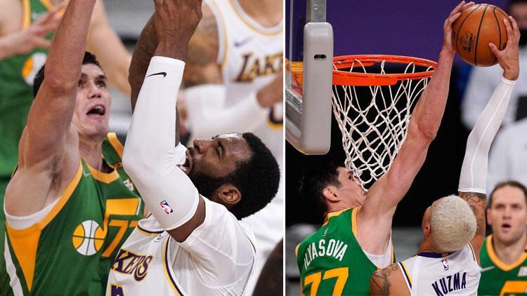 NBA'de gecenin sonuçları: Ersan İlyasova'nın 20 sayısı Utah Jazz'a yetmedi, Lakers uzatmada kazandı