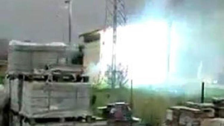 Trafo patladı, 2 ilçe elektriksiz kaldı! İşte patlama anı...