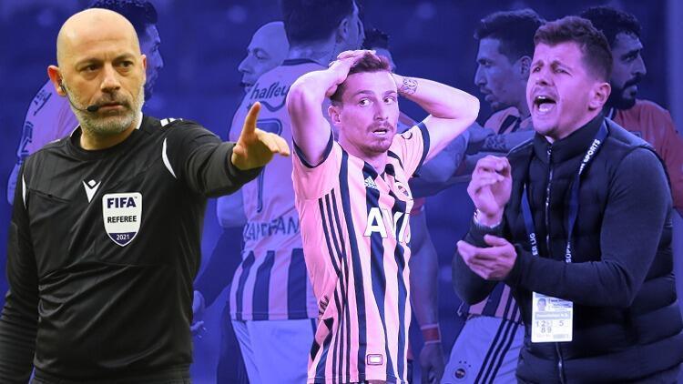Başakşehir-Fenerbahçe maçında Cüneyt Çakır'a büyük tepki! Gol sonrası Mert Hakan Yandaş ve oyuncular...