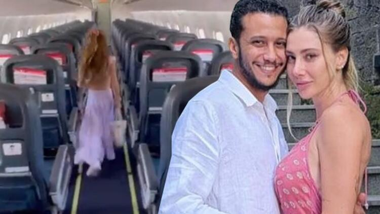 Şeyma Subaşı'na sevgilisi Mohammed Alsaloussi'den uçak jesti