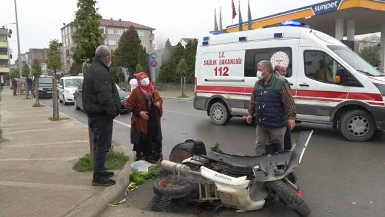Kazada yaralanan motosikletlinin annesi, 'Ambulansa beni de alın' diye ağladı