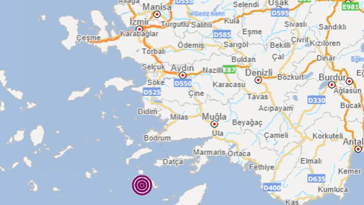 Son dakika... Ege Denizi'nde Datça açıklarında 4.4 büyüklüğünde deprem!