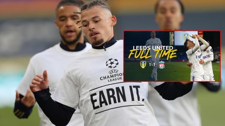 Leeds United'ın protestosu geceye damga vurdu! Liverpool'un adını bile anmadı