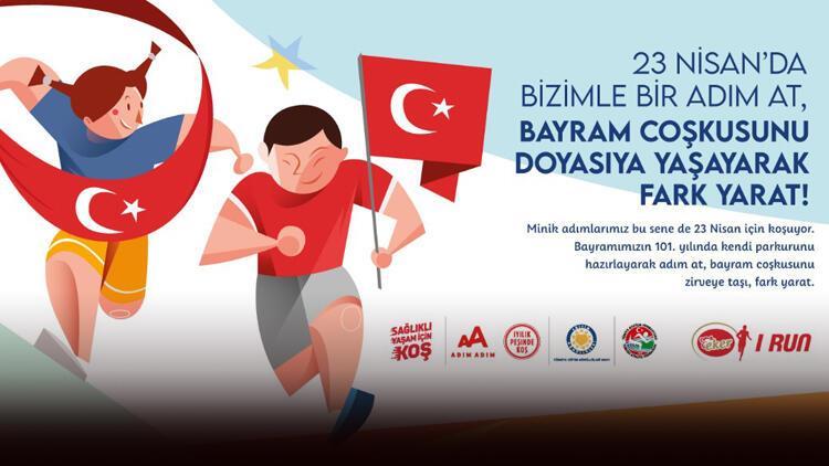 Çocuklar 23 Nisan'da çevrim içi koşuda yarışacak