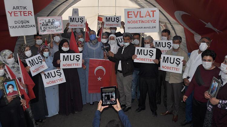 Diyarbakır ve Muş'taki evlat nöbetindeki ailelerden dayanışma mesajı