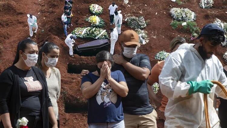 Brezilya'da P1 kâbusu: Bir günde 4 bin 249 kişi öldü