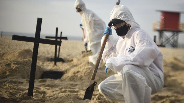 Brezilya'da son 24 saatte koronavirüsten 3 bin 472 kişi hayatını kaybetti