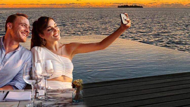 Hande Erçel ve Kerem Bürsin'in Maldivler'e gitti! Kaçamak mıbedava tatil mi?