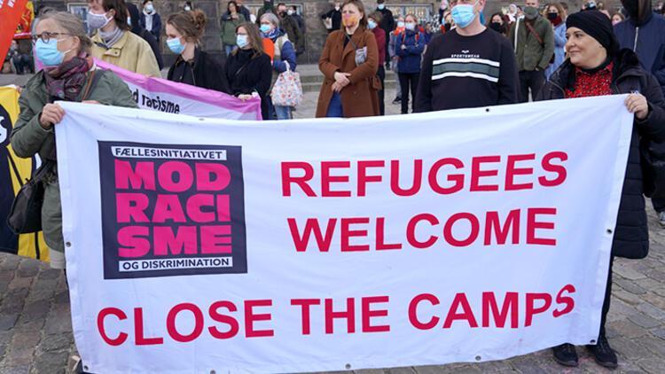 Danimarka'da 'Mültecileri geri gönderme' protestosu