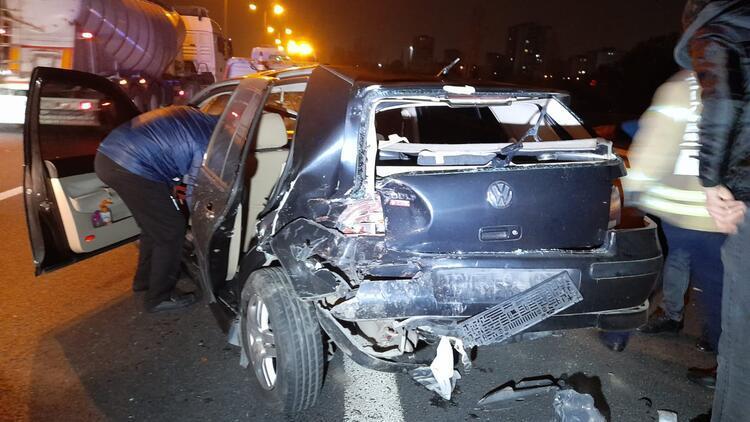 TEM Otoyolu'nda zincirleme kaza: Çok sayıda yaralı var
