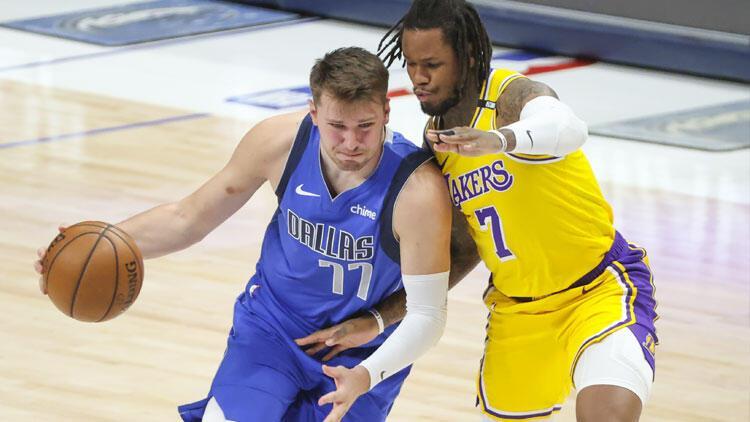NBA'de gecenin sonuçları: Dallas, Anthony Davis'in dönüş maçında Lakers'ı Doncic ile geçti