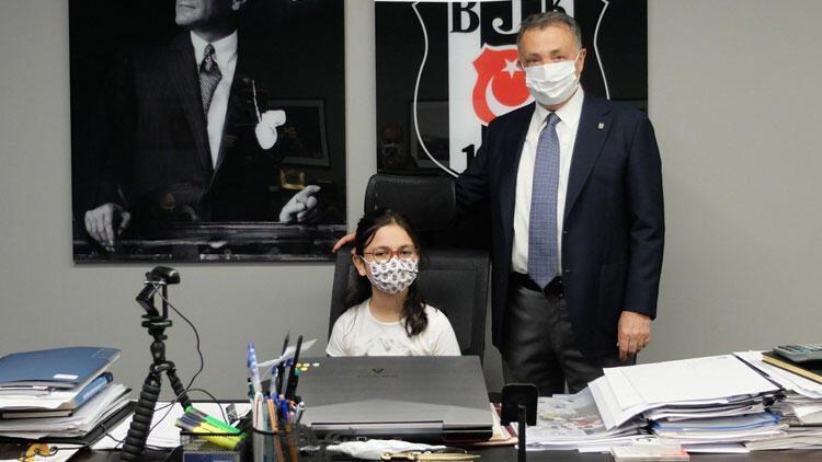 Beşiktaş Başkanı Ahmet Nur Çebi, 23 Nisan'da koltuğunu Emre Gönlüşen'in kızına devretti