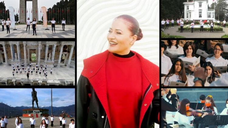 Candan Erçetin'den 23 Nisan Ulusal Egemenlik ve Çocuk Bayramı'na özel klip