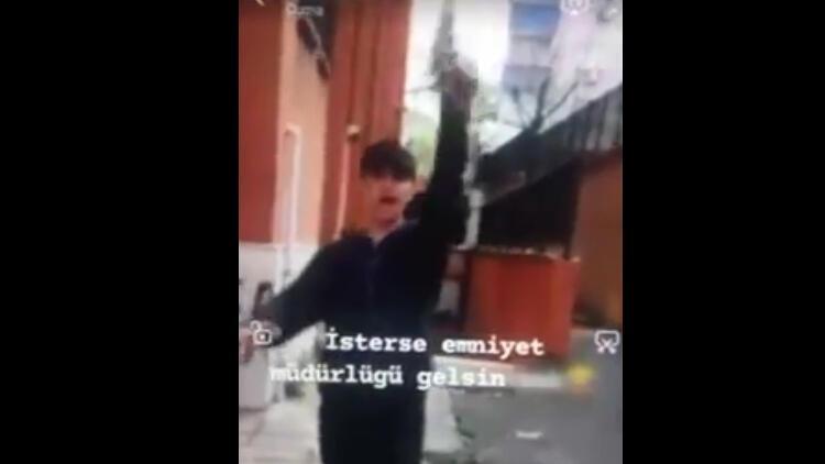 Okul bahçesinde skandal görüntü! Yakalandılar