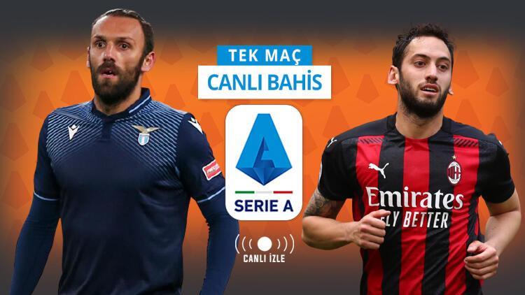 Vedat Muriqi ve Hakan Çalhanoğlu CANLI YAYINLA Misli.com'da! Lazio-Milan maçının iddaa'da favorisi...