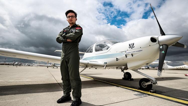 En genç pilotun büyük hayalleri