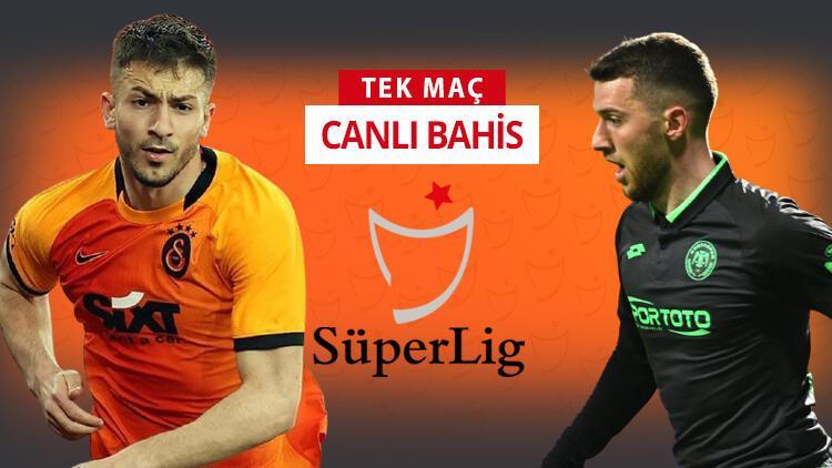 Konyaspor'da ilk 11'den 3 önemli eksik! Galatasaray'ın galibiyetine iddaa'da...