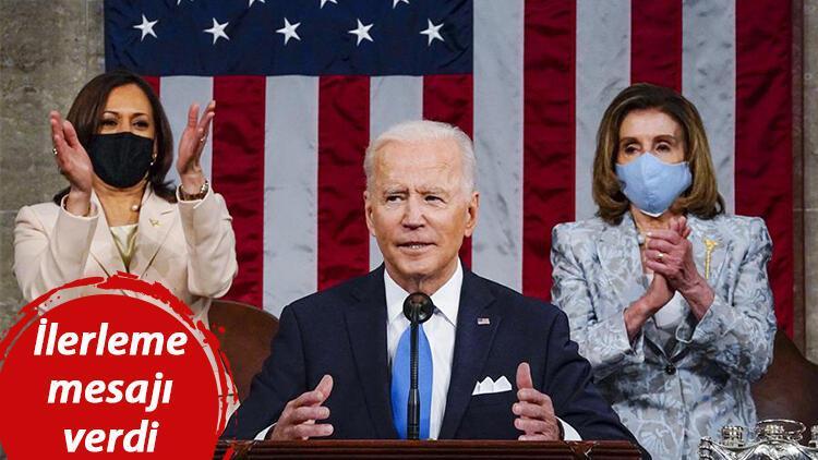 ABD Başkanı Joe Biden Kongredeki ilk konuşmasını yaptı: Tarihe geçen detay dikkat çekti