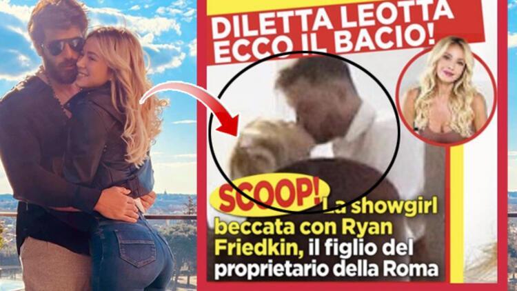 Her şey reklam mıydı... Can Yaman'ın sevgilisi Diletta Leotta iş insanı Ryan Friedkin'le dudak dudağa!