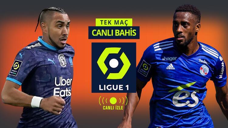 Fransa Ligue 1 CANLI YAYINLARLA Misli.com'da! Marsilya'nın Strasbourg karşısında iddaa oranı...