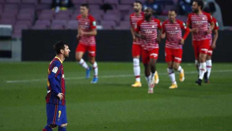 Barcelona 1-2 Granada / Barcelona liderlik fırsatını tepti