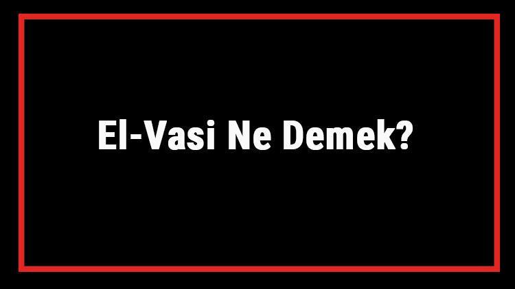 El-Vasi Ne Demek? El Vasi Esması Türkçe Anlamı Ve Ya Vasi Zikrinin Fazileti İle Faydaları
