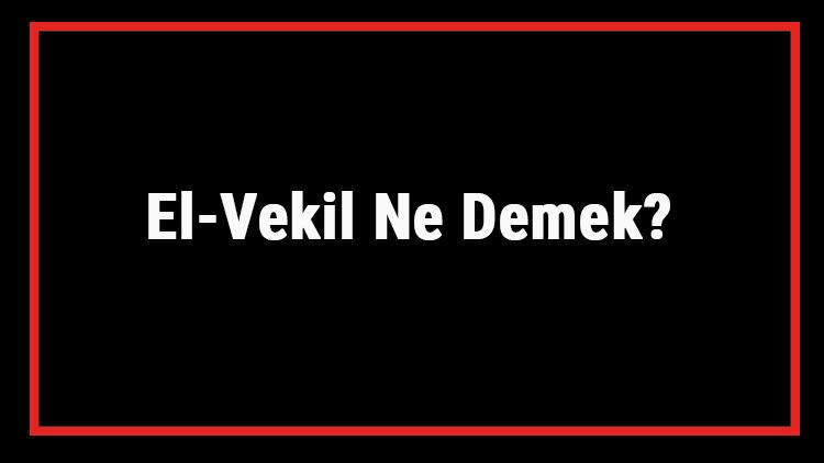 El-Vekil Ne Demek? El Vekil Esması Türkçe Anlamı Ve Ya Vekil Zikrinin Fazileti İle Faydaları