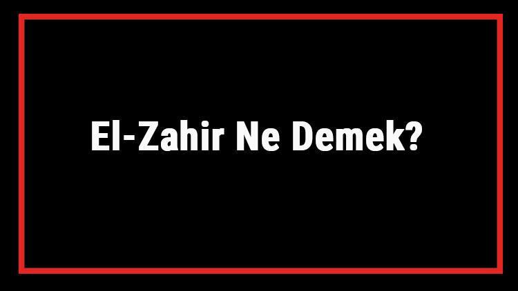 El-Zahir Ne Demek? El Zahir Esması Türkçe Anlamı Ve Ya Zahir Zikrinin Fazileti İle Faydaları