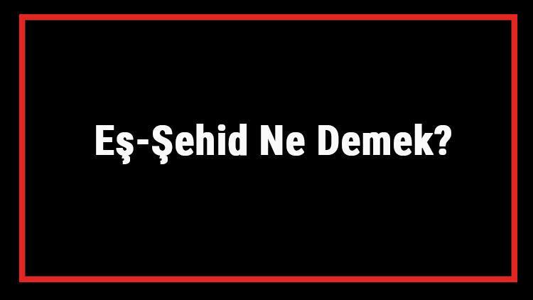 Eş-Şehid Ne Demek? Eş Şehid Esması Türkçe Anlamı Ve Ya Şehid Zikrinin Fazileti İle Faydaları