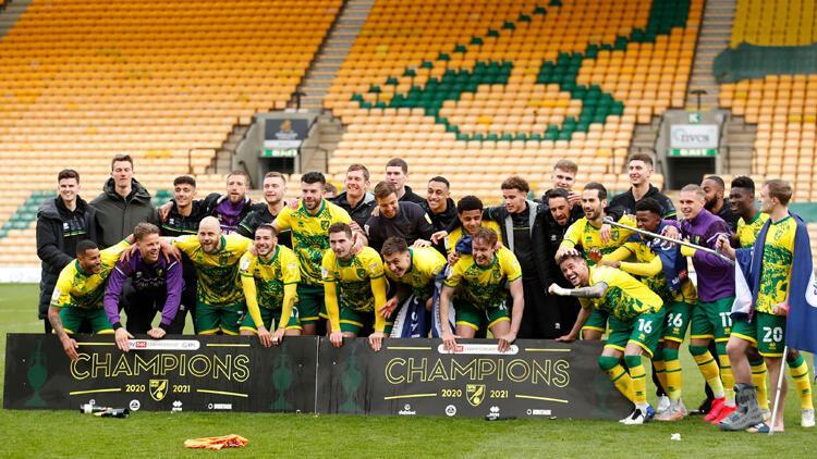 İngiltere Championship'te şampiyon Norwich City