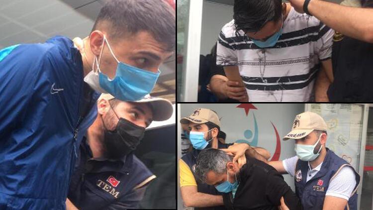 Otogarda patlayıcı ile yakalanan şüpheliler adliyeye sevk edildi