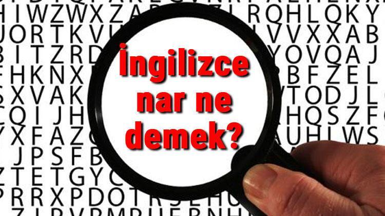 İngilizce nar ne demek? Nar kelimesinin İngilizce yazılışı, okunuşu ve söylenişi