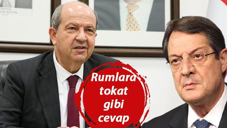 KKTC Cumhurbaşkanı Tatar'dan Rum lideri Anastasiadis'e tokat gibi cevap!