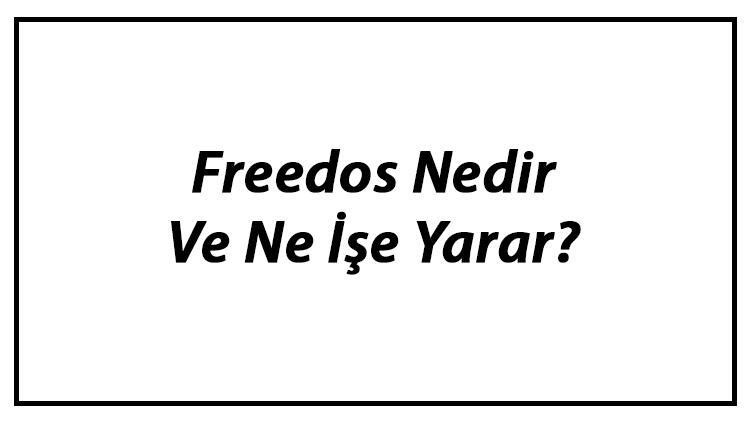 Freedos Nedir Ve Ne İşe Yarar? Freedos İşletim Sistemi Ve Kullanımı Hakkında Bilgi