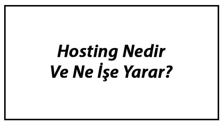 Hosting Nedir Ve Ne İşe Yarar? Web Hosting Alırken Dikkat Edilecekler