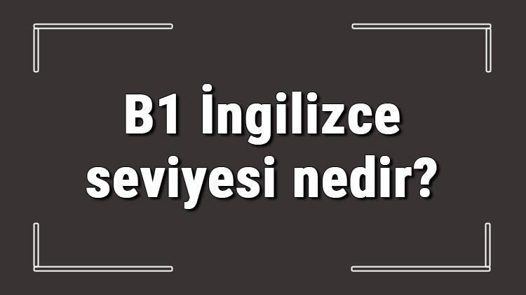 B1 İngilizce seviyesi nedir? B1 İngilizce konuları ve hakkında bilgi