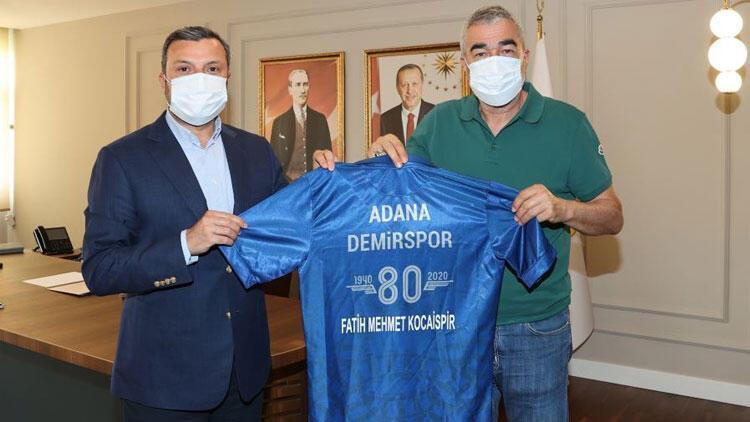 Samet Aybaba'dan Yüreğir Belediye Başkanı Fatih Mehmet Kocaispir'e ziyaret