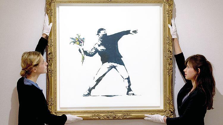 Banksy'nin eseri Bitcoin'le satılacak