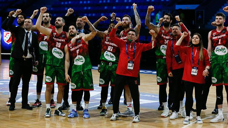 ERA Nymburk'u 84-73 yenen Pınar Karşıyaka, FIBA Şampiyonlar Ligi'nde yarı finale yükseldi