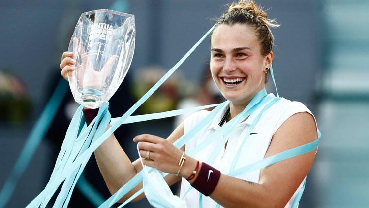 Madrid Açık tek kadınlarda şampiyon Sabalenka